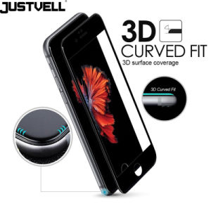 Justvell for iPhone 6 6s 7 Tempered Glass 3D Curved Surface Coverage 0.2mm 9h Screen Protector Full Cover Film for iPhone 7 6 6s pictures & photos