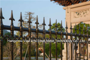 Haohan High-Quality Attractive Decorative Residential Industrial Galvanized Steel Fence 86 pictures & photos