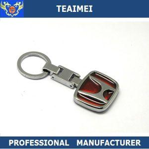Custom Chrome Car Logo Shape Zinc Alloy Keyring Metal Keychain