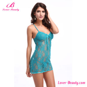 Fast Delivery Lace Babydoll Nightgown Women Underwear Sexy Lingerie pictures & photos