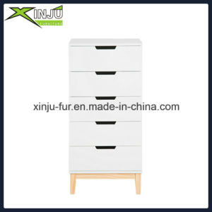 Home Living Wooden 6 Drawer Chest White (with solid wood legs) pictures & photos