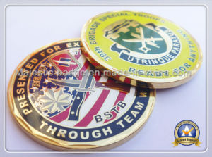 Customized Zinc Die Cast Gold Plating Hard Enamel Coin pictures & photos