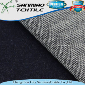 Indigo 300GSM Spandex Inclined Terry Knitted Denim Fabric for Garments pictures & photos
