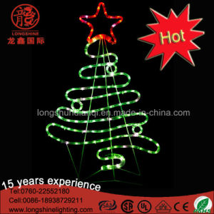 Holiday Light Supplier LED 2D Christmas Tree Motif Light for Indoor and Outdoor Decoration pictures & photos
