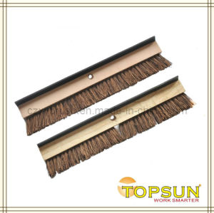 24′ Driveway Broom Cleaning Brush with Rubber Scraper