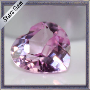 Brilliant Cut Heart Shape Synthetic Ruby Gemstone pictures & photos
