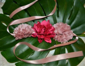 New Full Handmade Silk Flower with Ribbon Ym-91 pictures & photos