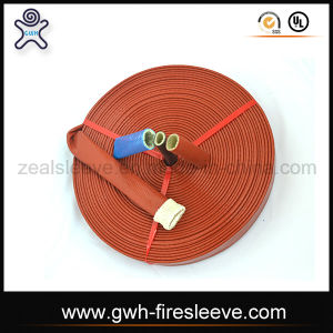 Pyrojack Fire Sleeve Silicone Rubber Coated Fiberglass Insulation Sleeving pictures & photos