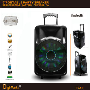 2600W Popular Bluetooth Wireless Active DJ Portable Rechargeable Battery Speaker pictures & photos
