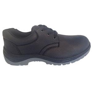 Upper Split Embossed Leather Sole PU Work Safety Footwear