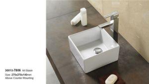 Lavatory Semi Recessed Ceramic Bthroom Furniture of Wash Sink 30013 pictures & photos