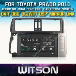 Witson Car DVD for Toyota Prado 2011 Car DVD GPS 1080P DSP Capactive Screen WiFi 3G Front DVR Camera pictures & photos