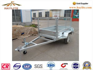 Haylite Hot DIP Galvanized 6X4 Trailer with Cage Single Axle pictures & photos