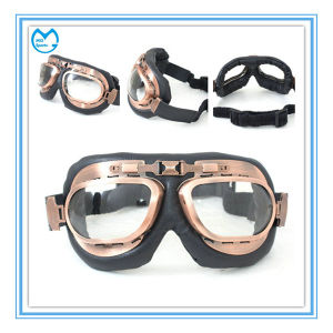PU Wrapped Around Riding Dirt Bikes Goggles for Helmet Compatibility pictures & photos