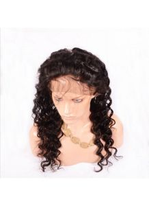 360 Lace Band Deep Wave 100% Human Hair Lace Frontal Closure Natural Hairline 22.5X4X2 pictures & photos