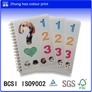 PP Spiral Notebook /A6 Spiral Binding Book/PP Wire-O Binding Notebook/Colour Printing Notebook/Writting Book/Notepad (b104)