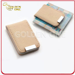 Promotion Gift Creative Design PU Leather Money Clip pictures & photos