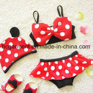 Baby Girl′s Bow Knot Bikini, Lovely Kids Swimming Suit pictures & photos