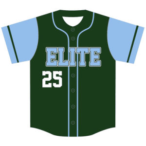 Custom Mens Sublimated Baseball Tops for Teams pictures & photos