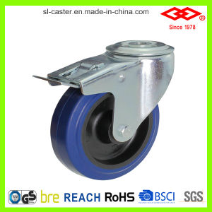 80mm Blue Elastic Rubber Bolt Hole Caster (G102-23D080X32) pictures & photos