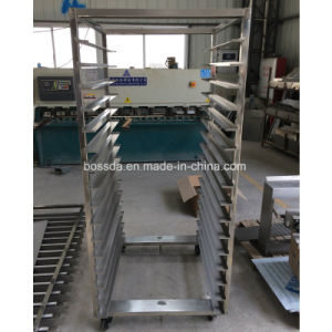 64trays Hot Air Electric Rotary Rack Oven for Bakery with Trolley Frame pictures & photos