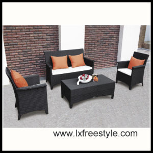 2014 Hot Sales PE Wicker Furniture / Wicker Sofa Set (SF-013)