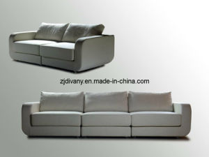 European Modern Wood Leather Fabric Sofa Seat (D-28) pictures & photos