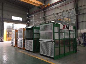 China Construction Builders Double Cage Building Elevator Mechanical Electric Hoist Crane pictures & photos