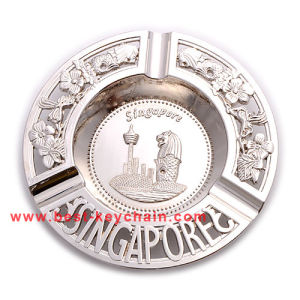 Round Shape Souvenir Singaport Metal Gift Ashtray (BK53349) pictures & photos