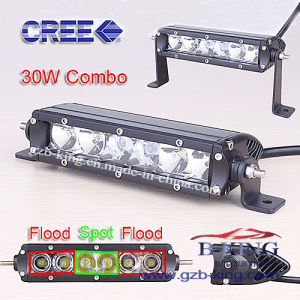 USA Market Hot Selling 7.9′′ 30W Slim LED Light Bar pictures & photos
