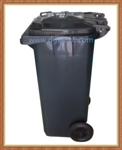 120L Grey Superior Plastic Garbage Bin with Pedal for Park pictures & photos