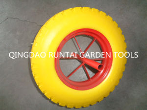 Cheapest and Beautiful 16 Inch PU Wheel (4.00-8) pictures & photos