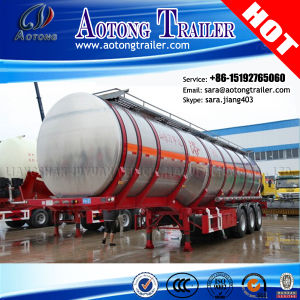 50cbm Aluminum Fuel Oil Tanker Truck Semi Trailer (LAT9404GRY) pictures & photos