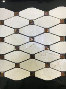 Diamond Gray Marble Stone Mosaic Tile pictures & photos