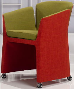 Fabric Designer Replica Lounge Chair with Castors pictures & photos