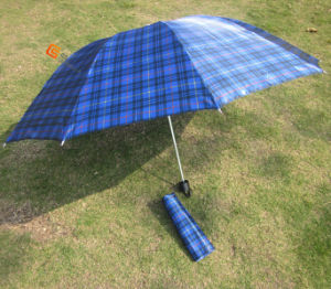 3-Folding Checker Flower Umbrella (YSF3057)