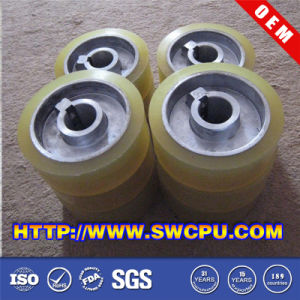 CNC Milling Plastic Roller Wheel with Nylon/POM Cover pictures & photos