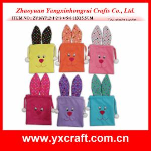 Easter Decoration (ZY16Y712-1-2-3-4-5-6) Easter Rabbit Candy Bag Egg Bag pictures & photos