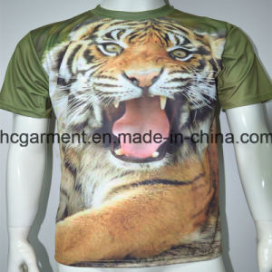 Man′s Sublimation Printed Short Sleeve Shirt, 3D T-Shirt for Man pictures & photos