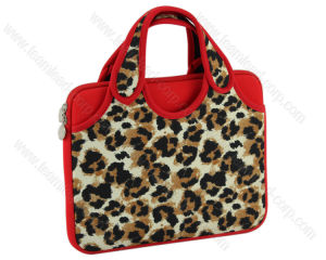 Leopard Print Custom Neoprene Laptop Handle Bag (QK LHB01) pictures & photos
