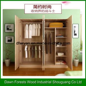 1-4 Doors Melamine Particle Board Wardrobe pictures & photos