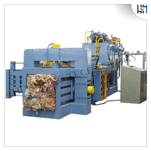 Full Automatic Horizontal Waste Cardboard Paper Baler Machine pictures & photos