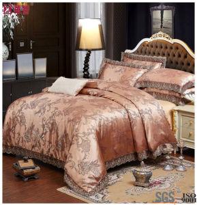 Gold Color Jacquard Luxury Duvet Cover Sets pictures & photos