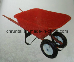 Heavy Duty Red Tray Hand Truck/Wheelbarrow pictures & photos