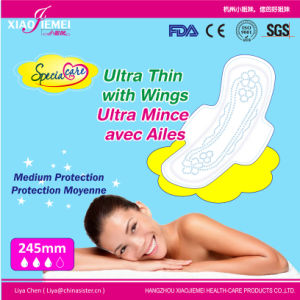 245mm Ultra Thin Sanitary Towel with Wings for Day Use pictures & photos