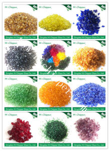 Hot Sale Colored Landscaping Glass Chips pictures & photos