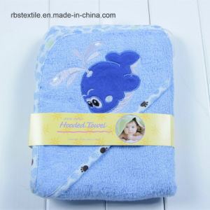 Qulified Cotton Baby Hooded Bath Towel Poncho pictures & photos