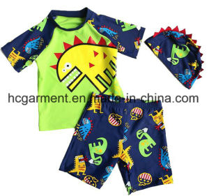 Kids Boy Swimming Suit. Cartoon Printed T-Shirts and Pants pictures & photos