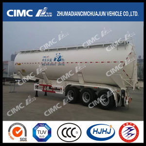 Cimc Huajun Front-Lifting Bulk Grain Powder Tanker with Rear Discharge pictures & photos