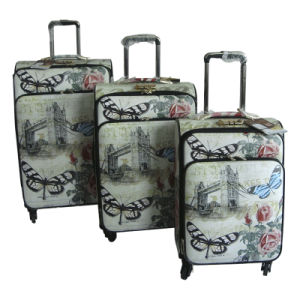 PU Luggage Trolley Case Suitcase Travel Bag Jb-D002 pictures & photos